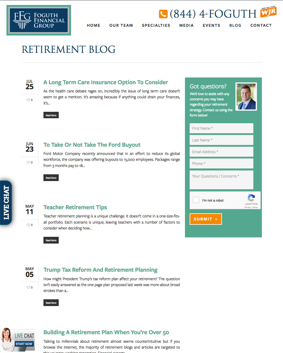 Foguth Financial Group: Retirement Blog