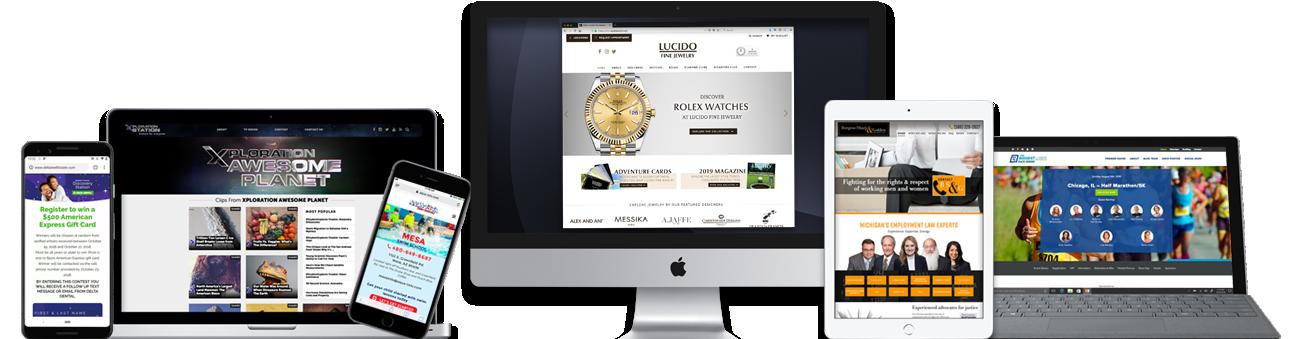 Portfolio for digital marketing services company Detroit